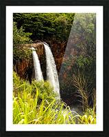 Kauai Waterfalls Picture Frame print