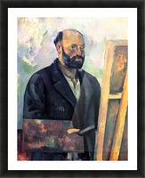 Self-portrait with Pallette by Cezanne Picture Frame print