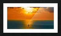 Sailing into the Sunset Picture Frame print
