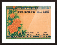 1938 Rose Bowl California Win Picture Frame print