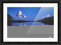 Night Mirror Picture Frame print