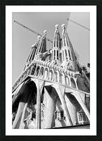 Barcelona Cathedral - La Sagrada Familia in black and white Picture Frame print