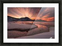 Golden Sunset Picture Frame print