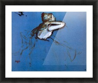 Sitting dancer in profile with hand on her neck by Degas Picture Frame print