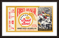 1968 First Peach Bowl LSU Win Picture Frame print