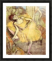 Sitting dancer with the right leg up by Degas Picture Frame print