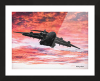 Soaring in the sky Picture Frame print