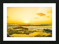 Golden Moment Picture Frame print