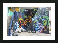 Background Graffiti Picture Frame print