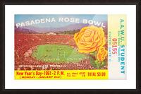 1961 Rose Bowl Washington Win Picture Frame print