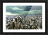 New-York under storm by Pagniez   Picture Frame print