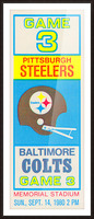 1980 Baltimore Colts vs. Pittsburgh Steelers Picture Frame print