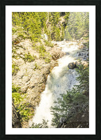 Rocky Mountain Rapids and Waterfalls 6 of 8 Picture Frame print