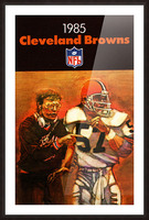 1985 Cleveland Browns Football Poster Picture Frame print