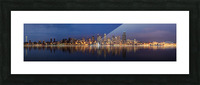 Seattle Skyline Panorama at Night Picture Frame print