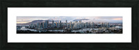 Vancouver Skyline Panorama Picture Frame print