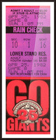 1982 San Francisco Giants Ticket Stub Art Picture Frame print
