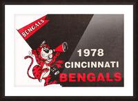 1978 Cincinnati Bengals Poster   Picture Frame print