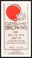 1974 Cleveland Browns Ticket Stub Art Picture Frame print