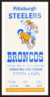 1977 Denver Broncos vs. Pittsburgh Picture Frame print