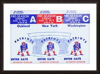 1973 New England Patriots Season Tickets Picture Frame print