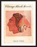 1965 Chicago Black Hawks Art Picture Frame print