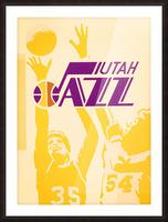 1980 Utah Jazz Retro Basketball Art Picture Frame print