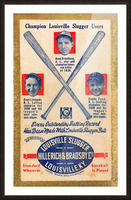 1939 Louisville Slugger Ad Poster Picture Frame print