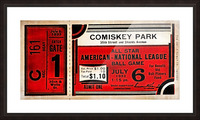1933 Comiskey Park All-Star Game Ticket Art Picture Frame print