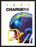 1985 San Diego Chargers Football Poster Picture Frame print