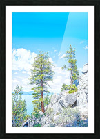 Top of the Mountain Picture Frame print