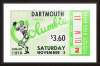 1949 Dartmouth vs. Columbia Picture Frame print