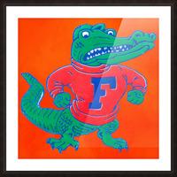 Retro Florida Gator Art Picture Frame print