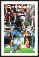 1987 Dartmouth Big Green Football Poster Picture Frame print