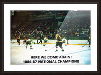 1987 University of North Dakota Hockey Picture Frame print