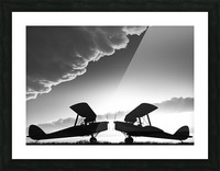 Biplanes Face Off Picture Frame print
