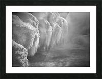 Winter River Smoke Picture Frame print