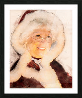 Mrs. Santa Claus Picture Frame print