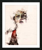 Belle dame du masque Picture Frame print