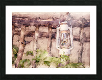 Maine Country Fence and Lantern Picture Frame print