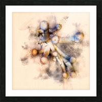 Tasty Mushroom Abstract Picture Frame print