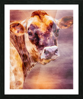 Beautiful Dairy Cow Picture Frame print