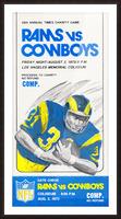 1973 LA Rams vs. Dallas Cowboys Ticket Art Picture Frame print