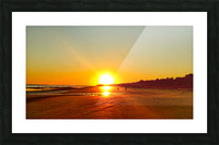 Sunset at the Atlantic Shore Picture Frame print