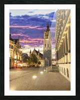 Sunset in Belgium Picture Frame print