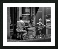 Coffee At The Sidewalk Cafe Picture Frame print