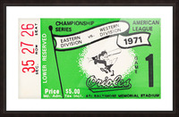1971 Baltimore Orioles American League Championship Impression et Cadre photo