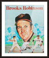 1974 Brooks Robinson Poster Picture Frame print
