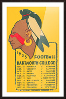 1935 Dartmouth Indians Football Poster Picture Frame print