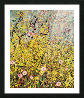 Symphony in Yellow Panel 1 Picture Frame print